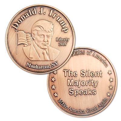 Donald Trump libertad 2016 Manhattan-cobre Moneda de desafío EE. UU. El Presidente Trump recuerdo moneda de Metal