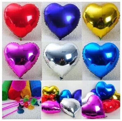 20pcs Event Balloons 10inch Heart Shaped Foil Balloon Large love wedding Happy Bithday Party Decoration Globos