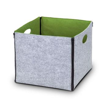 Felt Storage Box Bin Storage Drawer With Hole Handle