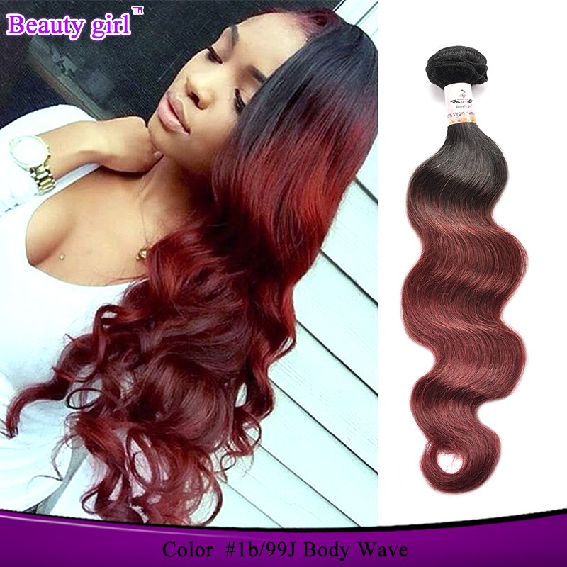 Sew In Human Hair Weave Ombre Hair Extension 100 Rainbow Lady Human