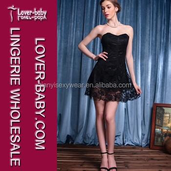 354a853a62b3c Darling Sweetheart Neckline Woman Black Strapless Skater Bodycon Evening  Party Dress Clubwear Sexy Club Lace Dress