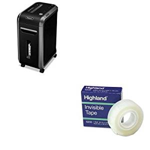 KITFEL4690001MMM6200341296 - Value Kit - Fellowes Powershred 90S Heavy-Duty Strip-Cut Shredder (FEL4690001) and Highland Invisible Permanent Mending Tape (MMM6200341296)