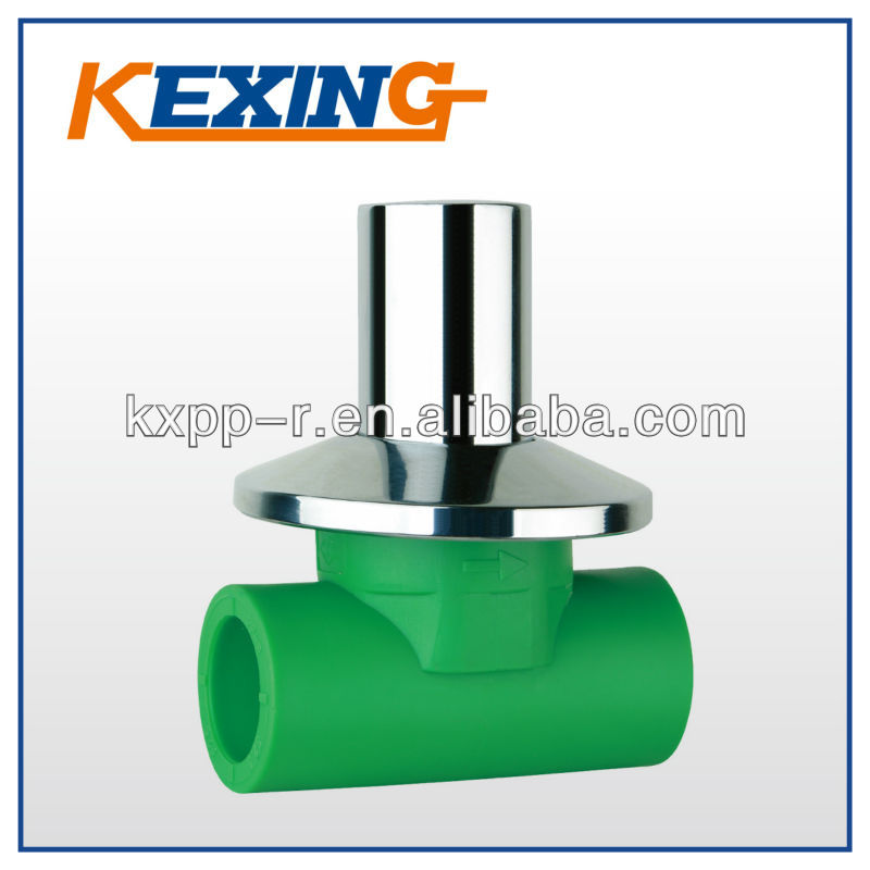high quality Water Supply Plastic Injection Pipe fitting ppr concealed Stop Valves