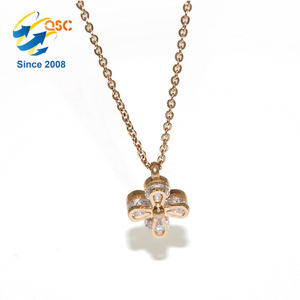 Custom Promotion Women Charm Flower Necklace