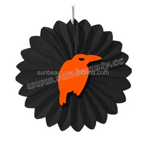 Inflatable item paper fan as halloween giveaways