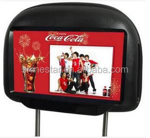 9 inch cab taxi LCD signage advertising 3G Android player headrest monitor