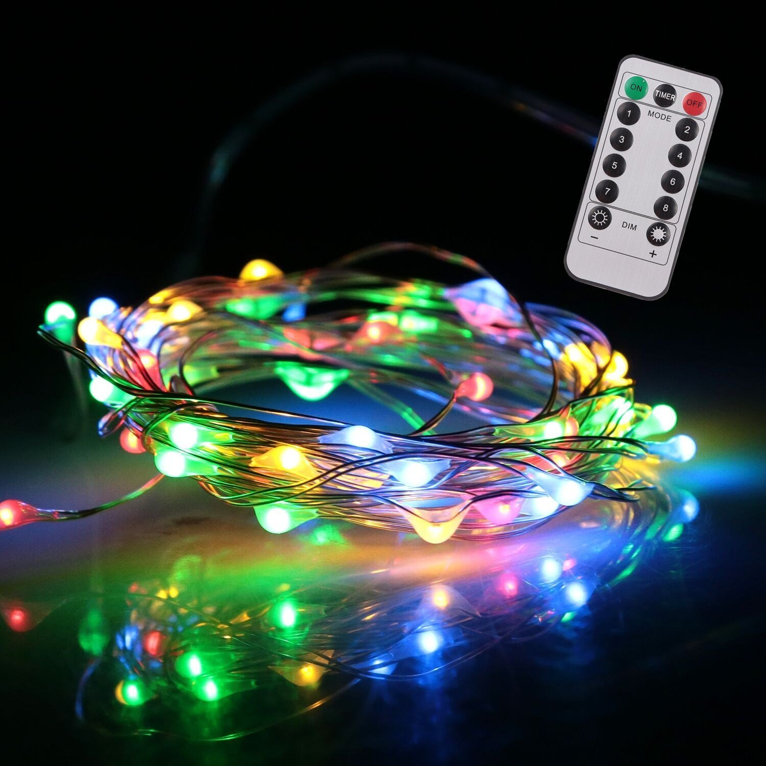 get quotations kumeida battery string lights indoor and outdoor battery operated ultra thin silver string wire with