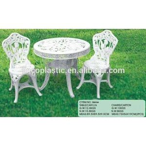 Outdoor Plastic Public Garden Furniture with Chair and Table