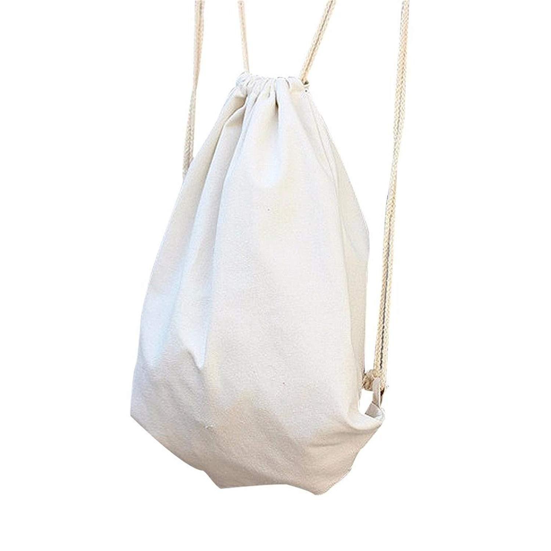 Women Backpacks Solid Drawstring Beam Port Backpack Schoolbag Shopping Bag Travel Bag Shoulder Bag Faionny