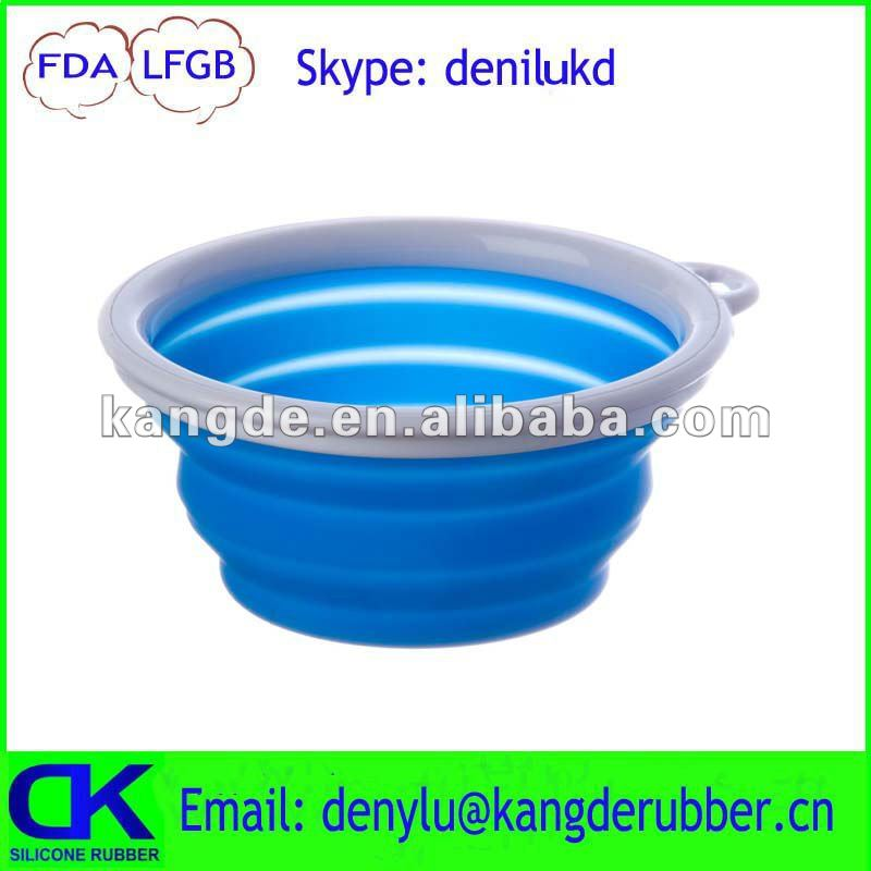 2012 New designed foldable travel bowl