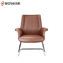 SGS Best Leather Office Chair Reviews,Use Meeting Room Wood Visitor Chair For Sale