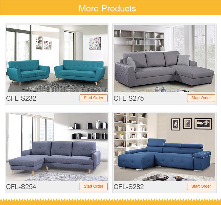 Modernes design sofa + chaise PVC/stoff sofa sectionals für wohnzimmer
