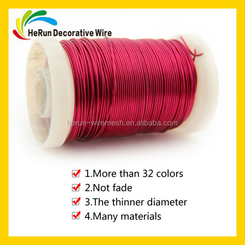 HR alloy/ iron /copper /aluminum for colored beading wire