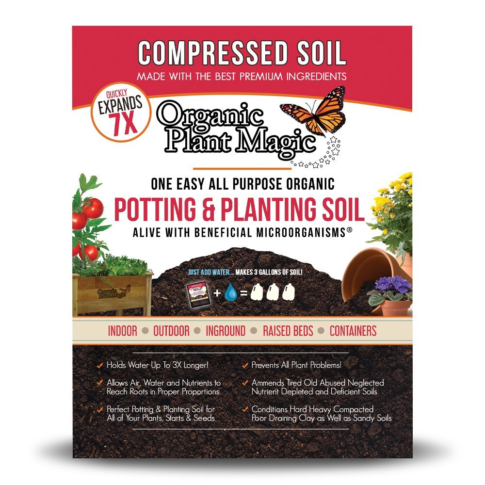 Get Quotations Compressed Organic Potting Soil For Garden Plants Expands Up To 7 Times When