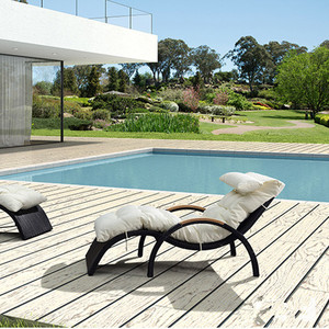 Hot Selling Garden used rattan outdoor chaise lounge/Beach Rattan wicker adjustable sun lounger