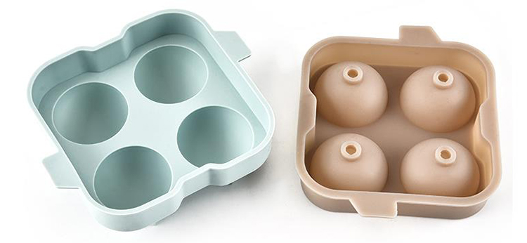 2/4/8 DIY Baking Utensil Mold Round Ice Tray Mould