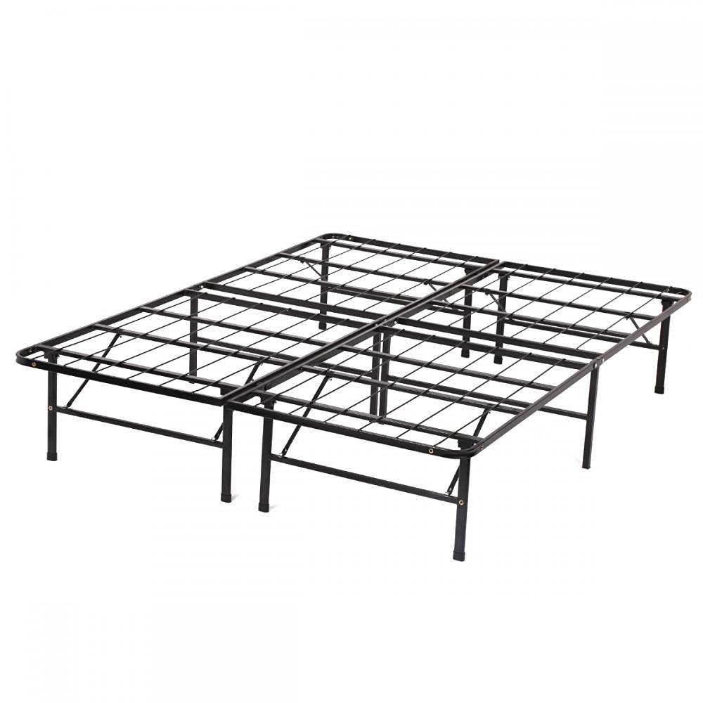 Bi-Fold King Folding Platform Metal Bed Frame Mattress Foundation