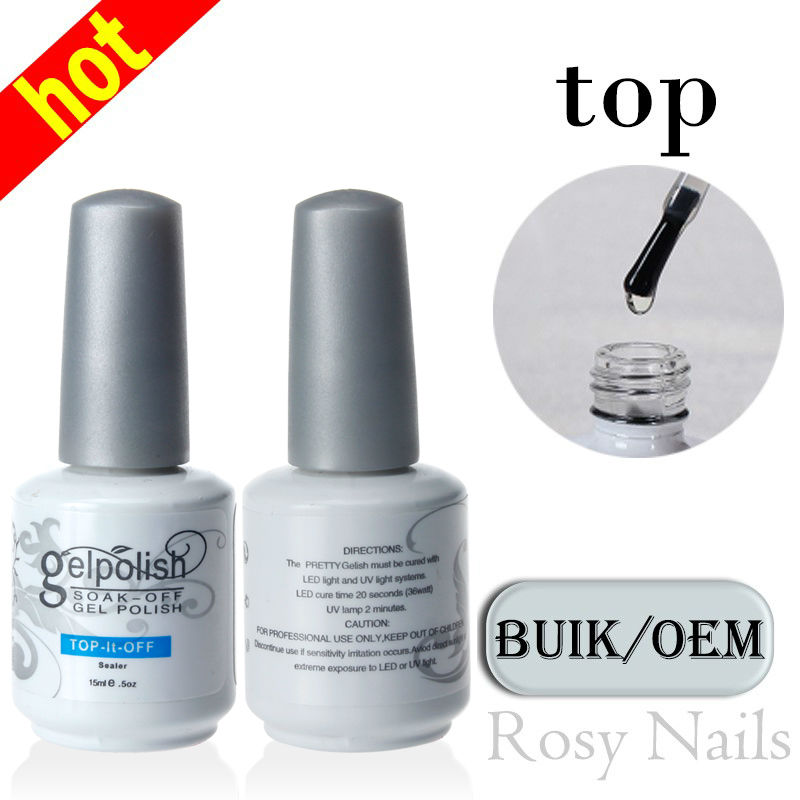 Free Shipping High Shine Top Quantity No Wipe Soak Off Top Coat Uv <strong>Gel</strong>