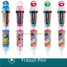 Multipl Refill Pen,Crystal Ball Top Long Shelf-life Multicolor Pen