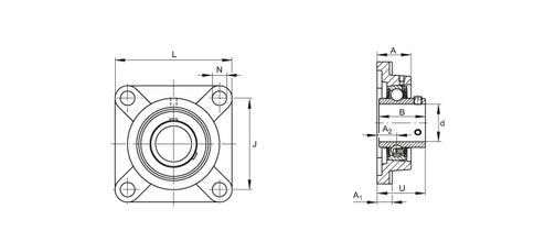 Pillow block bearing UC210 UC210D1