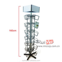 Floor standing spinning metal bottle plastic bottle glass bottle food display