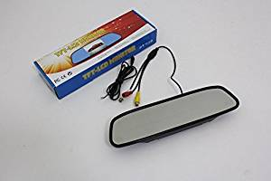 "In Car 4.3"" Rear View Mirror Monitor / Digital Color TFT LCD Screen / Rear Camera Display / NTSC PAL 12V RCA"