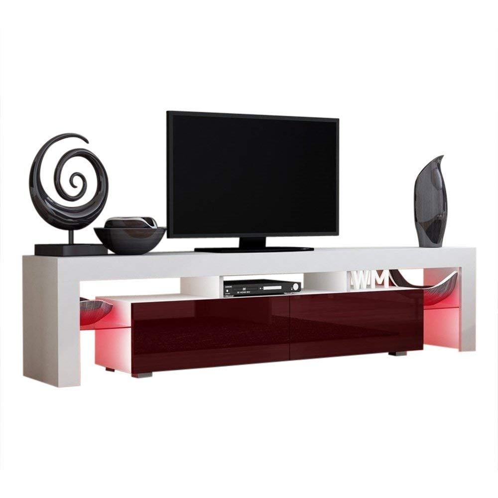 Get Quotations Domadeco Milano 200 Tv Stand Modern Entertainment Center Media Stands Color