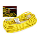 Heavy Duty Yellow Extension Cable Extension Cable with 3 Prong Grounded Plug for Safety 25 Ft Lighted Outdoor Extension Cord