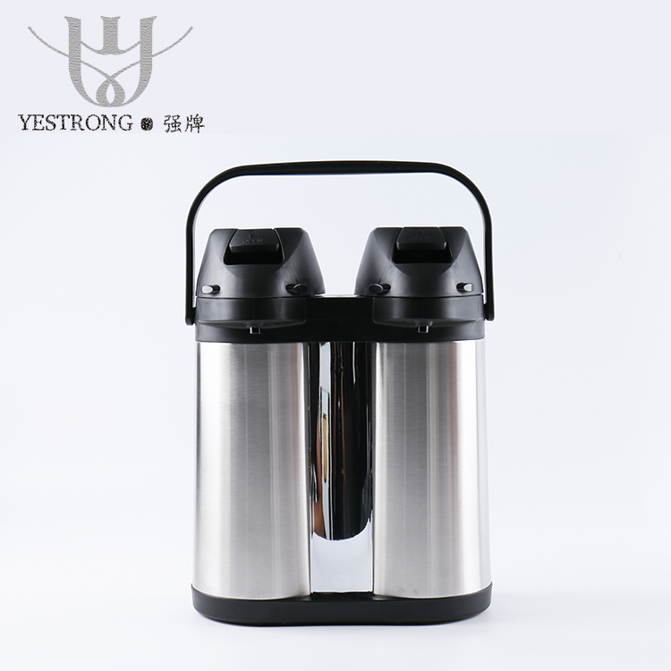 Function 3.5L 4L 2L*2 Double Wall Insulated Coffee Dispenser Flasks Stainless Steel Thermos Vacuum Airpot Flask