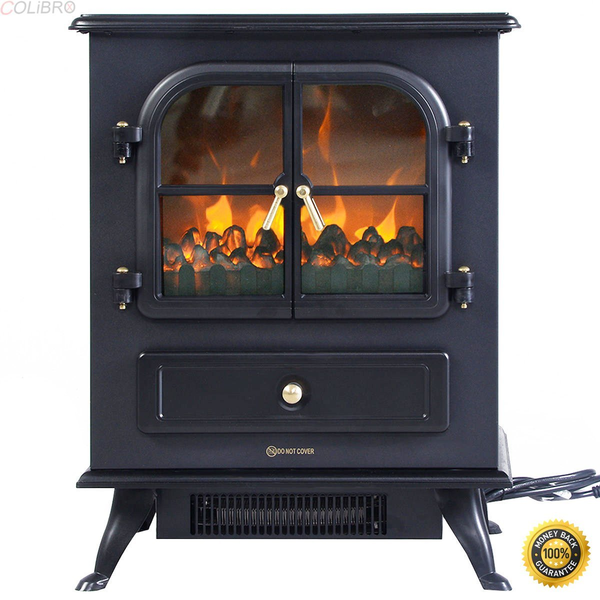 COLIBROX--Free Standing Electric 1500W Fireplace Heater Fire Flame Stove Wood Adjustable,fireplace design ideas,home depot fireplaces ,electric fireplaces clearance home depot,electric fireplaces