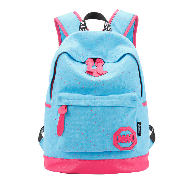 Fashion  Patchwork Preppy School Backpacks for Teenage Girls Mochila Escolar Nubuck Leather Canvas Printing Backpack School Bags