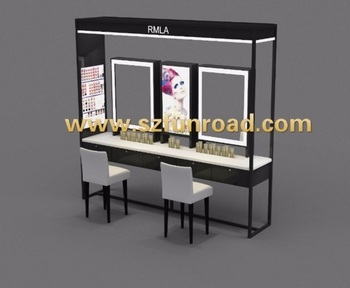 Make Up Tafel : Cosmetic retail shop make up table and chair for customer service