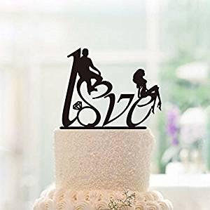 Buy Wedding Cake Topper Love Cake Topper Silhouette Cake Topper