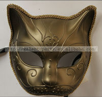 Factory Wholesale Fashio Man Sexy Animal Full Face Dance Masquerade Cat Face Mask Vintage Cat Party Mask