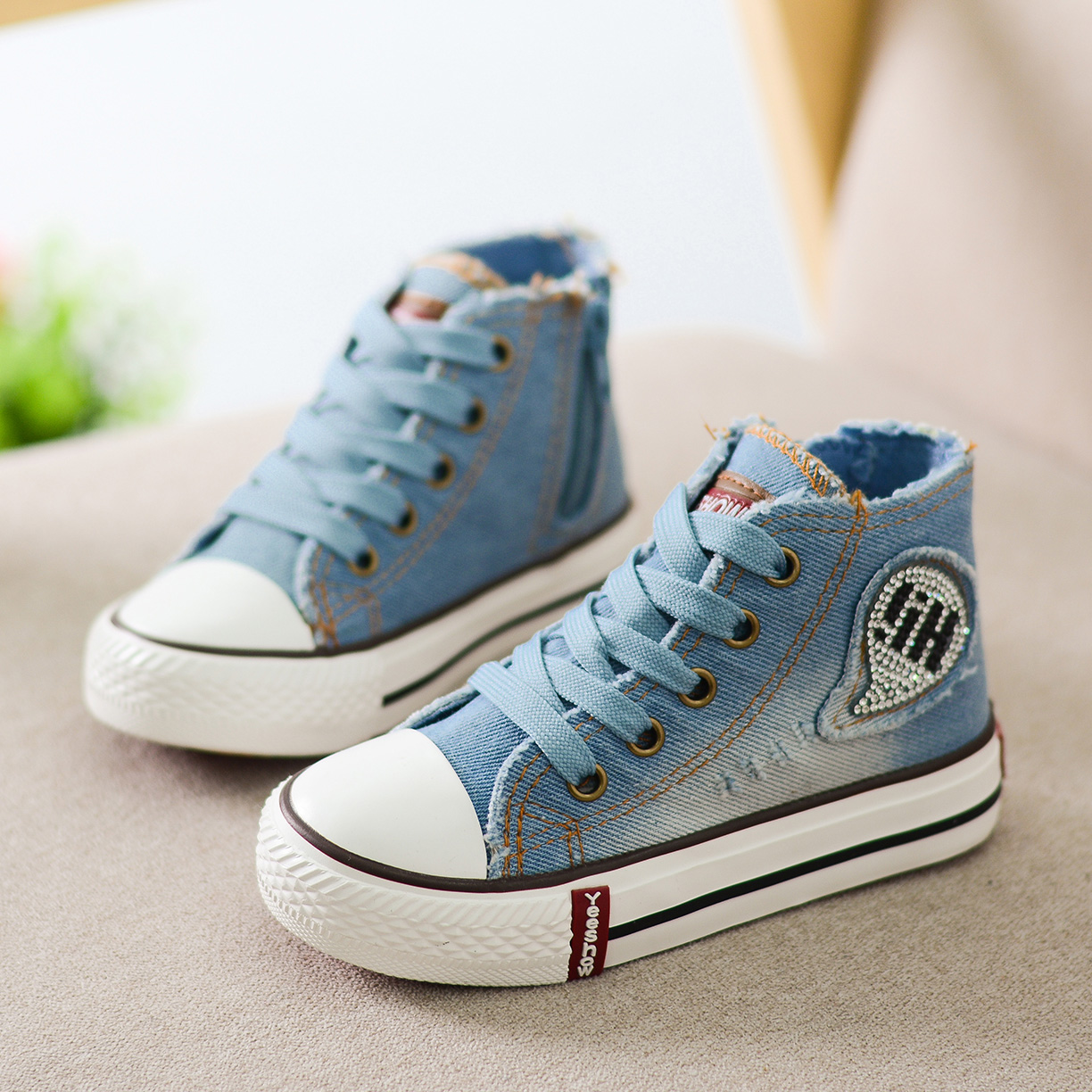 High Top Children Canvas Shoes 2016 Spring New Arrival
