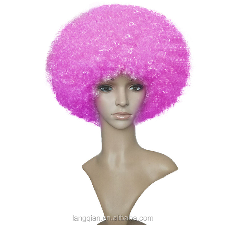 halloween party afro color de nol cosplay de clown drle synthtique perruque brsil coupe du monde - Perruque Colore
