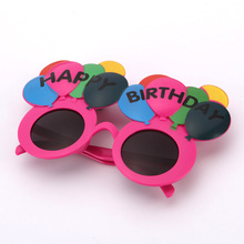 Toys For Kids Birthday Party Supply Party Decoration Sunglasses Colorful Balloon Happy Birthday Eye Glasses