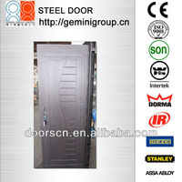Pre hang steel doors designed for building and real estate company 600pcs per container