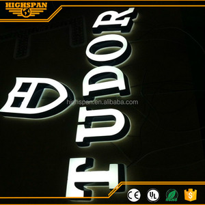 3D used lighted sign letters plastic advertising storefront signs