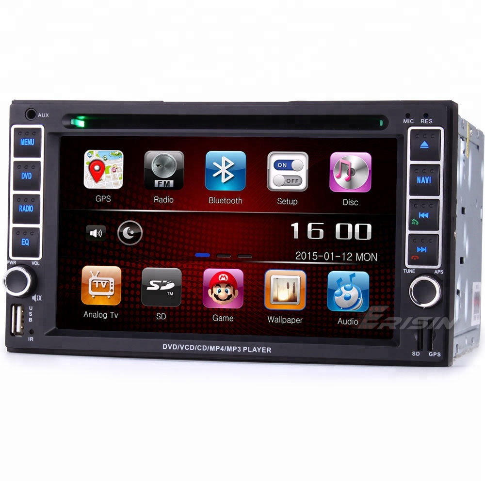 "erisin ES737G 6.2 "" 2 din hd dvd player mobil 3 g gps tv"