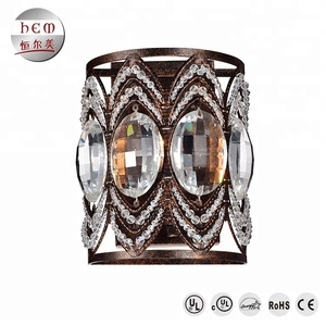 hotel lobby chandelier antique Wall Lamp Vintage Crystal led wall light wall mounted decorative lighting