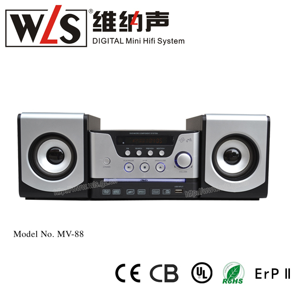 2014 Chinese cheapest mini hifi digital media player MV-88 with undated CE/CB/ROHS certificates