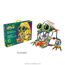 educational plastic electric knex block robot toy for kids
