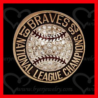 1992 Atlanta Braves National League Championship Replica Ring 10K Gold Diamonds