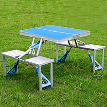 Metal Aluminum Promotion Outdoor Foldable Camping Dining Folding Table