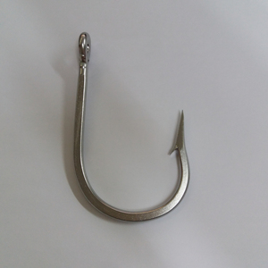 stainless steel fishing hooks size 12/0 7691ss shark hook wholesale(105mm*56mm*4.5mm)
