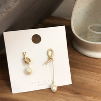 Earings For Women 2019 Korean 925 Silver Needle Pearl Plated Gold Material