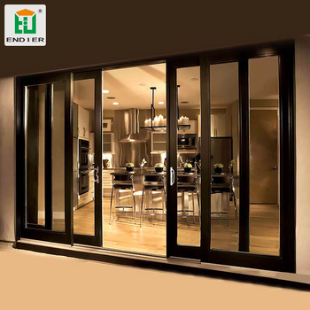 Aluminum Frame Sound Proof Parallel Sliding Doors Modern Aluminium