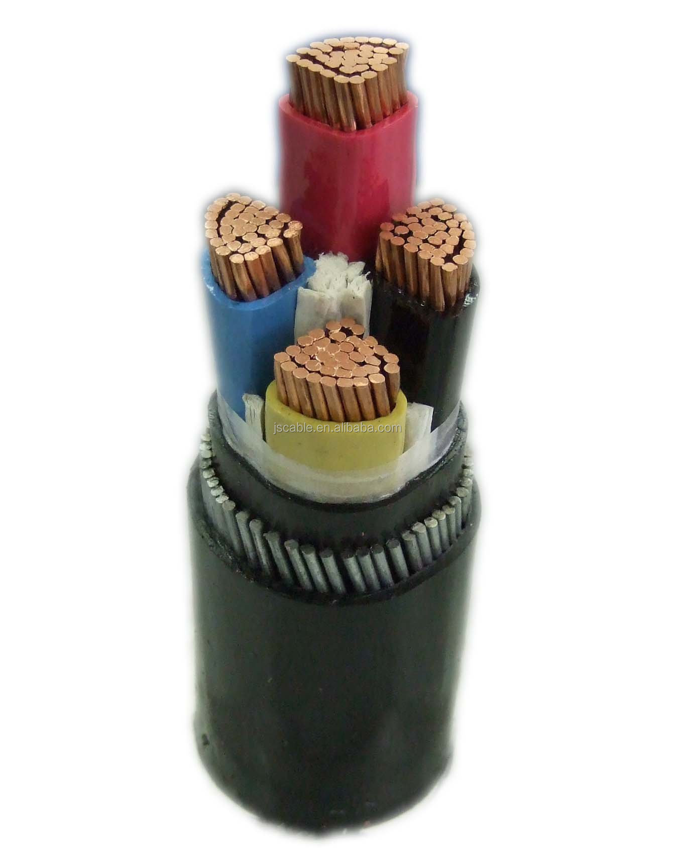 PVC insulated 4 core steel wire armored cable
