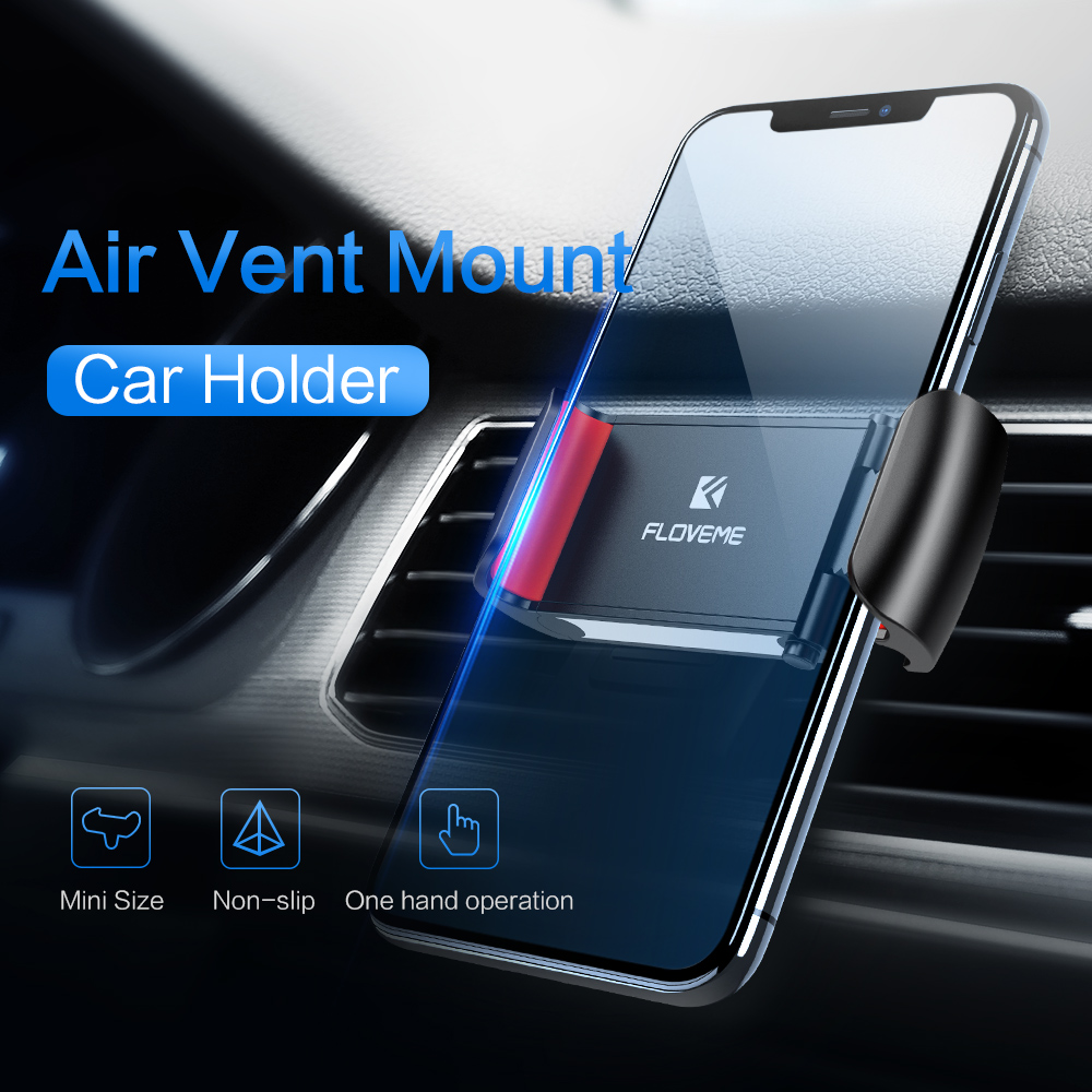 FLOVEME Free Shipping stretchable air vent car phone holder car phone holder abs